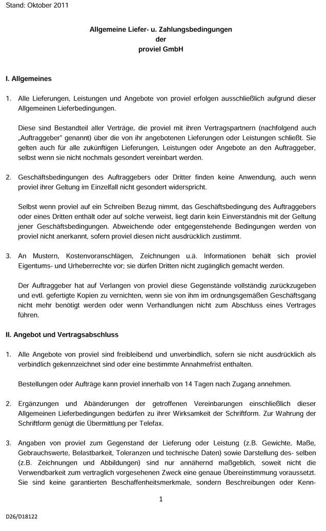 Stand Oktober 2011 Allgemeine Liefer U Zahlungsbedingungen Der